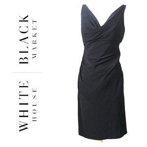 WHBM White House Black Market Drape Neck Dress